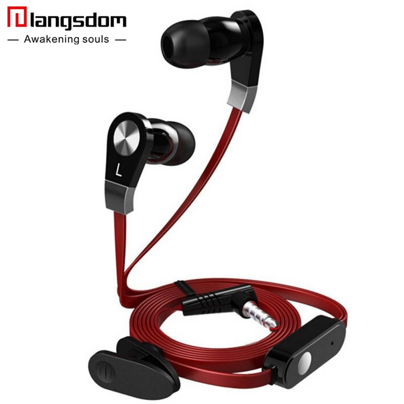Langsdom JM02 In-ear Earphone for Phone Bass Stereo Earphone With Microphone Headset for iphone Samsung Earbuds fone de ouvido rock y10 stereo headphone earphone microphone stereo bass wired headset for music computer game with mic