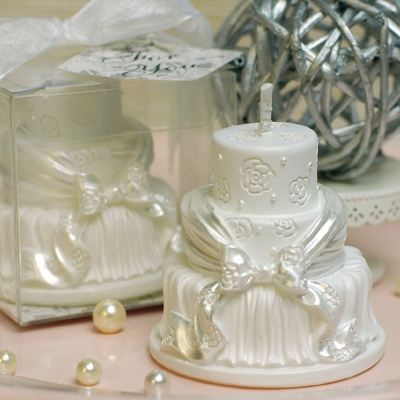 Romantic Wedding Gifts: 2PC Home Wedding Decoration Candle Birthday Cake Shape