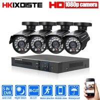 Full HD 4ch 1080n DVR CCTV Системы комплект 2.0mp открытый AHD Камера Водонепроницаемый ИК P2P безопасности Товары теле и видеонаблюдения комплект 1 ТБ жест