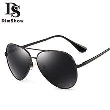 Dimshow  Sunglasses Men Women Polarized Sunglasses Men Driving Mirrors Coating Points Black Frame Eyewear Male Sun Glasses UV400