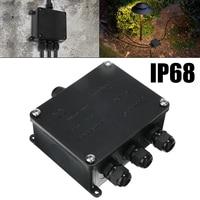 1pc Outdoor LED verlichting Junction Box Accessoires Ondergrondse Kabel Bescherming Mouw Connector 4 Way Terminal