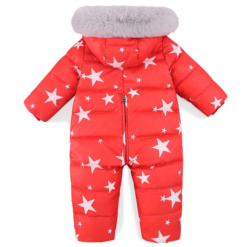 629641457 ... 2019 Baby Jumpsuits Girls Winter Overalls Baby Boys Rompers Duck Down  Jumpsuit Hooded Children Outerwear Kids ...