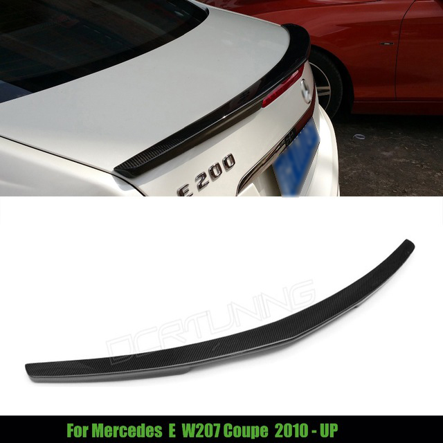 For Mercedes W207 C207 E 2-door Coupe Spoiler Carbon Fiber Rear Trunk Wing Material AMG Style E250 E350 CDI E500 E550 2010 - UP 2015 2016 amg style w205 carbon fiber rear trunk spoiler wings for mercedes c class c180 c200 c250 c300 c350 c400 c450 c220