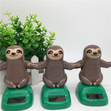 Novelty Solar Toys Plastic ABS Sloth Solar Powered Dancing For Desk Home Ornaments Decoration Toys For Children Kids Gift
