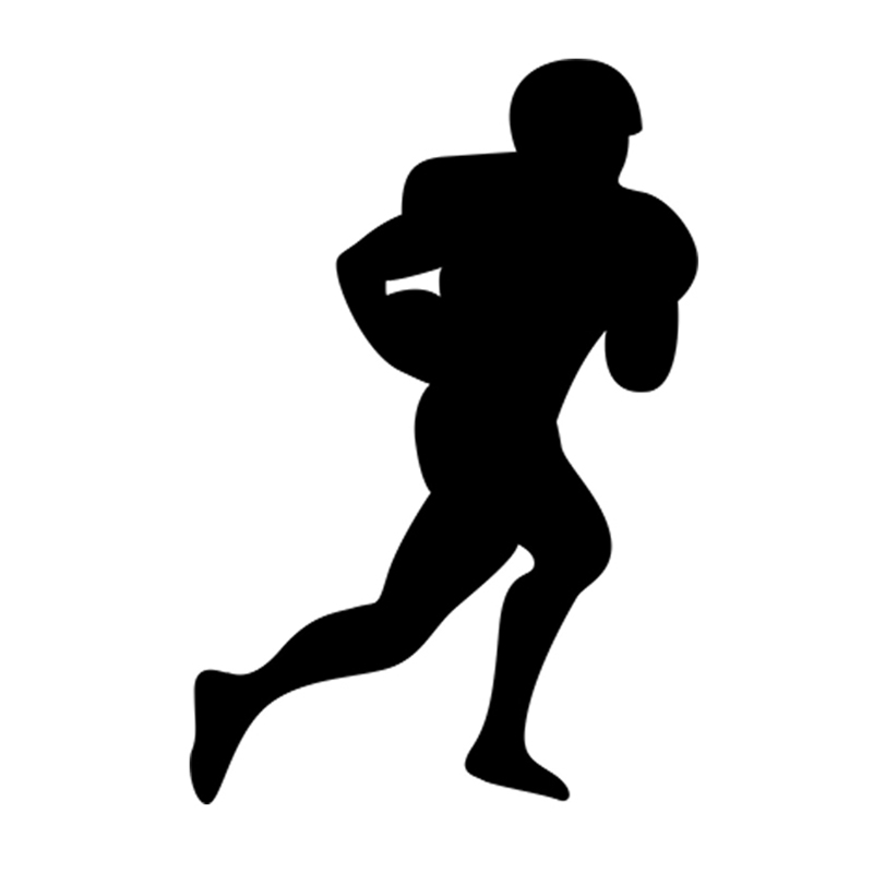 American Football Soccer Player Silhouette Rugby Sport Man ...