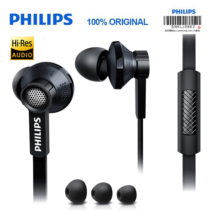 Earphones & Headphones Energetic Philips Original Tx1 Hires Earphones High Resolution Hifi Mobile Noise Cancelling Headset For Xiaomi Galaxy S9 S9 Plus Up-To-Date Styling