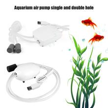 Aquarium Air Pump Single Double Hole USB Charge Silent Fishing Oxygen For Fish Tank Accessories