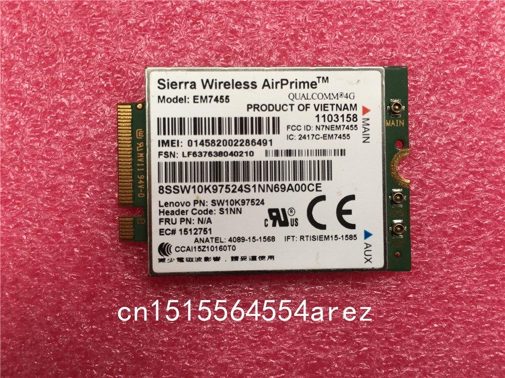 4G LTE WWAN karty dla Sierra bezprzewodowy Airprime EM7455 GOBI6000 dla Lenovo thinkapd X270 T470 T470S T470P P51 P71 sw10k97524