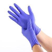 50/100pcs 일회용 장갑 라텍스 고무 청소 식품 장갑 유니버설 홈 가든 청소 장갑 가정용 청소 진한 파란색
