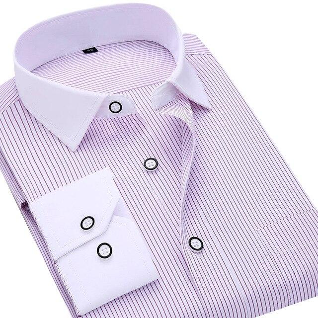 Мужская Рубашка С Длинным Рукавом Бизнес-Рубашка