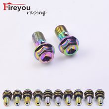 Fireyouracing Motorcycle Brake Hose Bolts Hydraulic Clutch Pump Master Cylinder Banjo Screw Oil Output Bolts Nuts M10 Colorfuls(China)