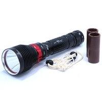 Brand new dx1 cree xm-l xml xm-l2 15 wát 2000lm hợp kim nhôm chống thấm led lặn đèn pin dưới nước đèn torch flash ánh sáng
