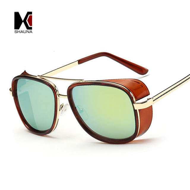 de84105b4fa SHAUNA Cheaper Iron Man 3 Matsuda Sunglasses Men Square Sun Glasses Brand  Designer Women Punk Sunglass Oculos Masculino Gafas