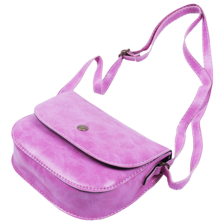 5e19208c5 FGGS mujeres bolsa de hombro Mensajero de la taleguilla del bolso de mano  ocasional pequeño remache bolso Rose Red