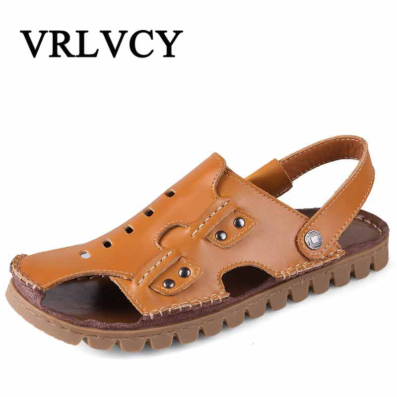 2018 Men Sandals Baotou Beach Summer New Men Waterproof Breathable Men Gladiator Casual Sandals