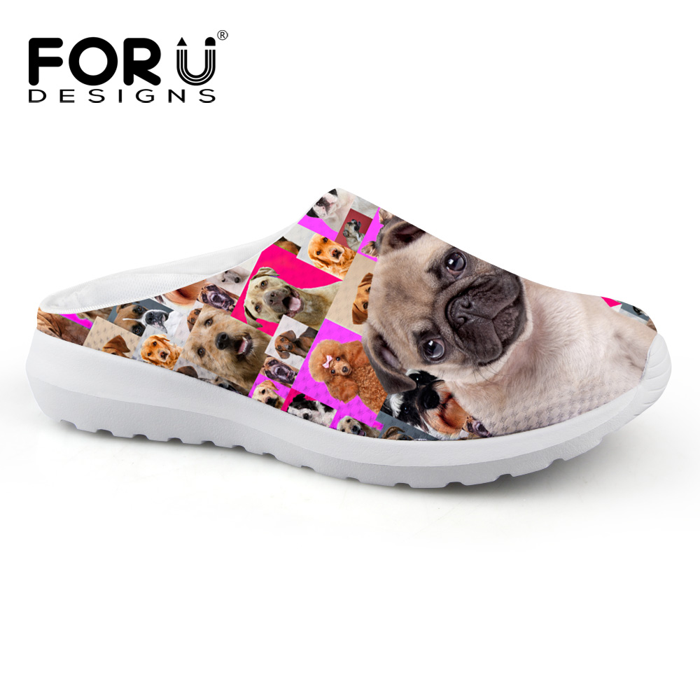 Cute Animal Pug Dog Printing Sandals for Women Casual Female Ladies Flat Heel Slipper Breathable Summer Beach Sandals large format printer spare parts wit color mutoh lecai locor xenons block slider qeh20ca linear guide slider 1pc