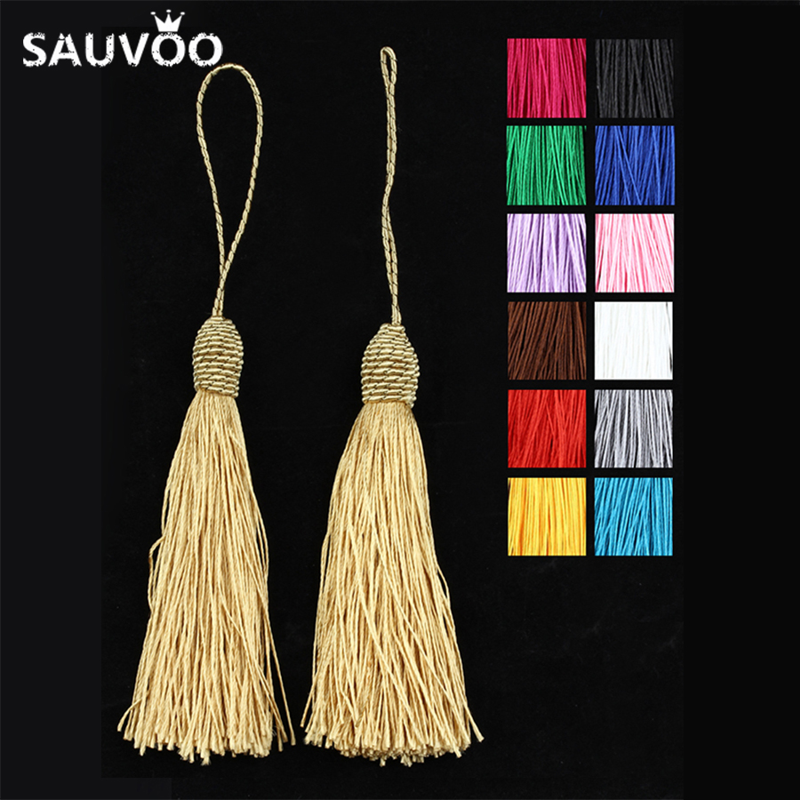 10pcs/lot 13 Colors 15cm Long Silk Tassel Fringe Pendants Chinese Knot Tassels for DIY Jewelry Necklace Making Materials F4000