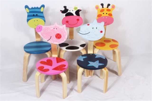 2014 NOW HOT SALES,2PCS/LOT CHILD ANIMAL WOOD CHAIR Child Room Furniture  Baby Good Ideas