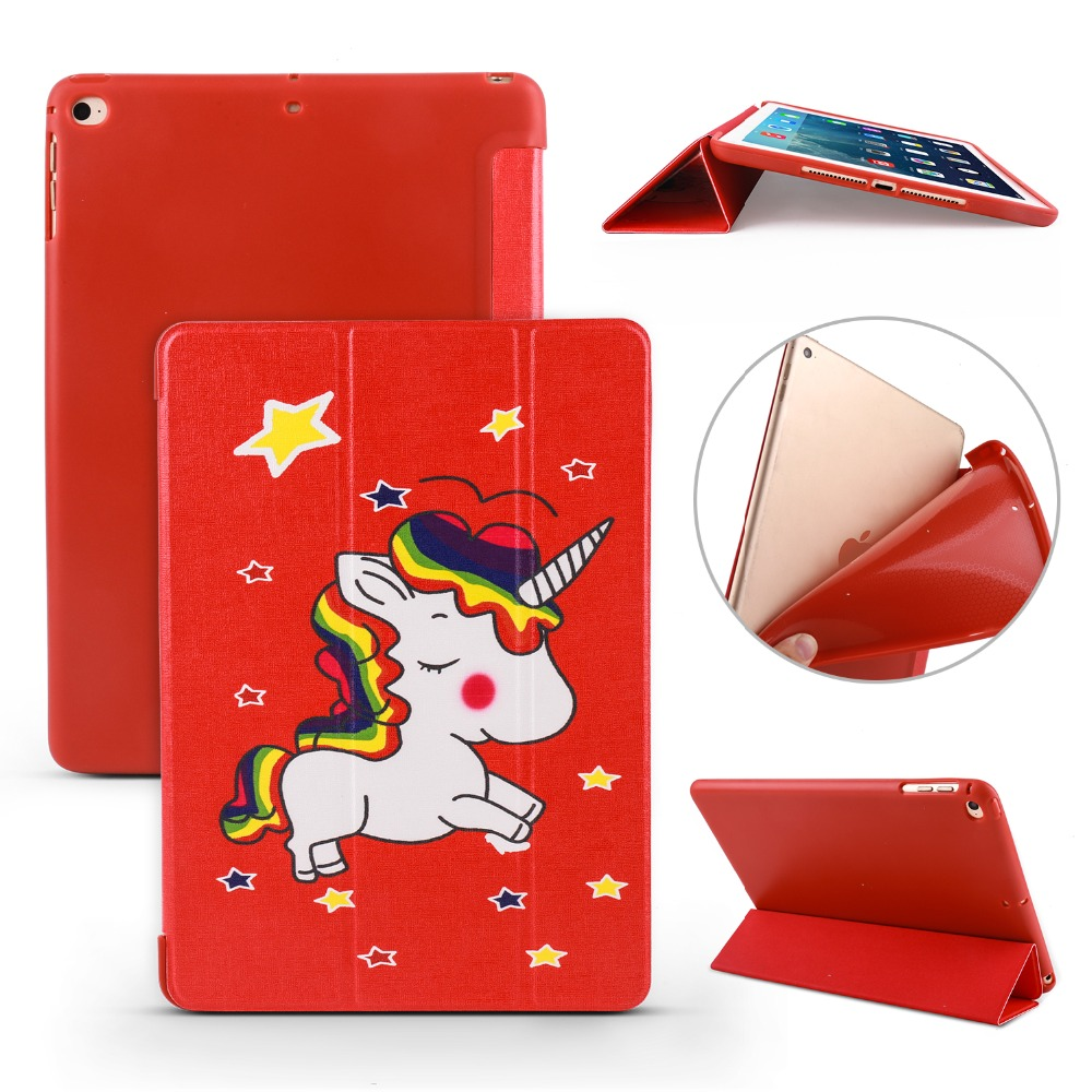Case For Apple New Ipad 9.7 Inch 2017/For Ipad Air 1/Air 2 . PU Leather Cover+TPU Soft Silicone Full-Angle Guard - YCJOYZW