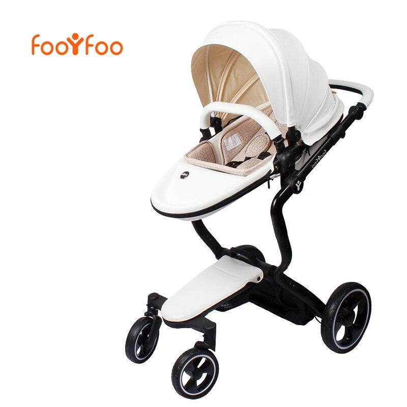 Foofoo bébé poussette Haute paysage peut changé en sommeil panier en cuir