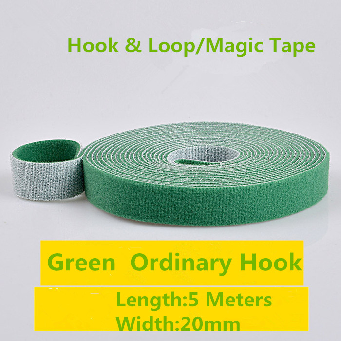 1PCS MT002 5 Colours Hook&loop Nylon Fastening Tape Magic Tape Strap Width 20 mm Cable Tie 5 Meters Injection Hook Ordinary hook