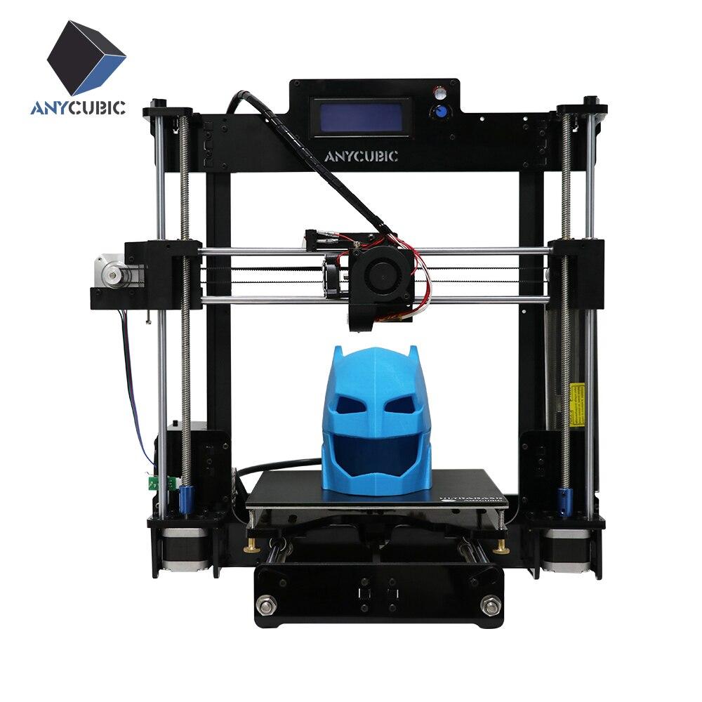 Anycubic новые обновления RepRap 3D принтер DIY Kit Высокая точность ultrabase platfrom с 1 кг нити для подарков