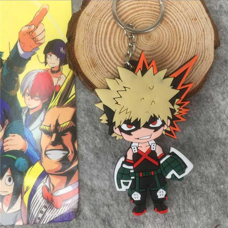 Anime figuras japão personagens dos desenhos animados meu herói academia pingente chaveiro chaveiro ornamento figura de brinquedo ação brinquedos acrílicos para o miúdo