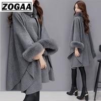 Faux Fur Coat Women Fashion Winter Spring Fur Collar Long Flare Sleeve Coats Female Furry Leather Overcoat Plus Size Long Coat