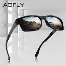 AOFLY diseño de marca TR90 marco gafas de sol para hombres, gafas de UV400 lente gafas de hombre conducción gafas de sol AF8102