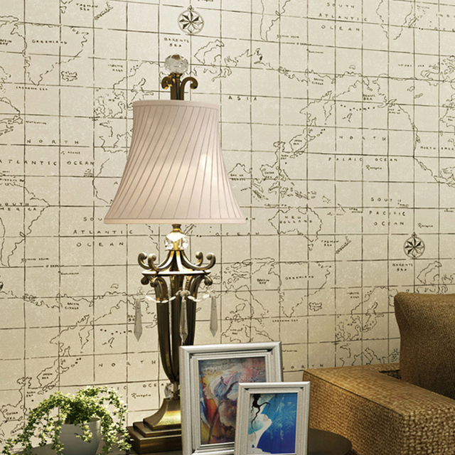 Modern grid world map print wallpaper environmental 6 colors non modern grid world map print wallpaper environmental 6 colors non woven mural wall paper for gumiabroncs Image collections