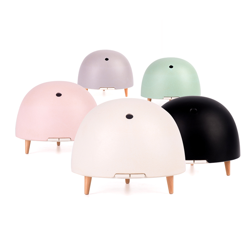 цена на 200ML Mist Humidifier Ultrasonic Aroma Oil Diffuser Bamboo Fiber Cover Real Wood Humidifying Essential Night Light Aroma Maker
