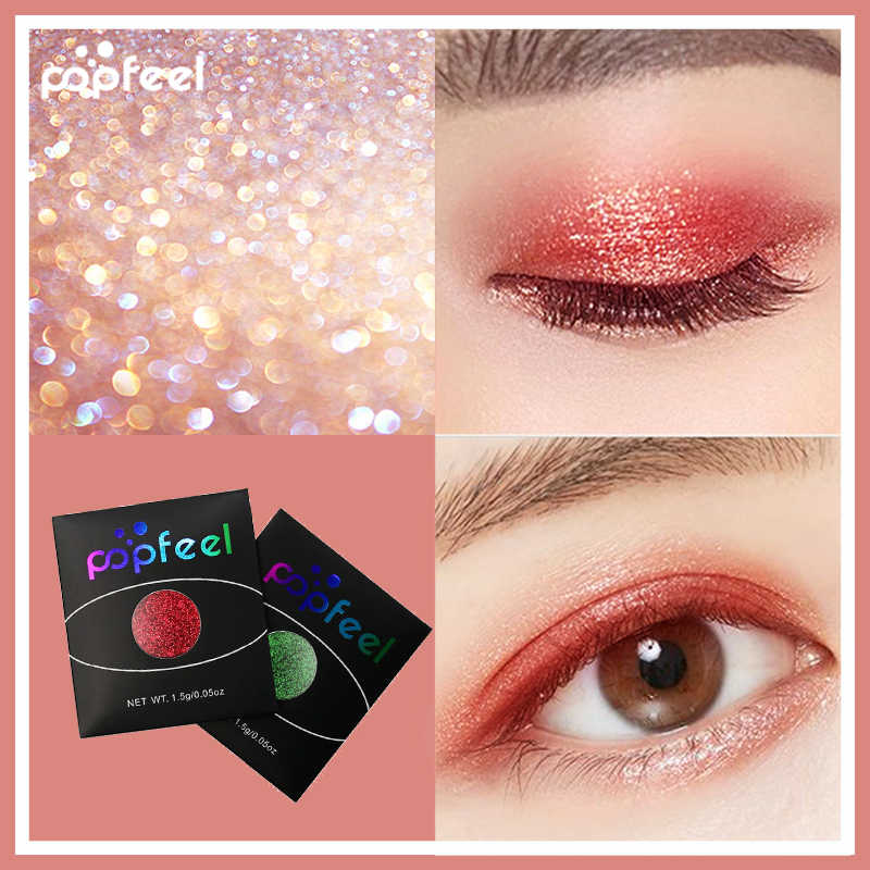 Popfeel 18 Warna Opsional Monokrom Mata Bubuk Berlian Wanita Kecantikan Make Up Mata Shinning Glitter Bubuk Makeup Palet Eyeline