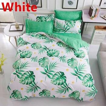 Bedding Sets King Size Duvet Cover Set Spring Leaf Bedding Hotel Bedclothes Green