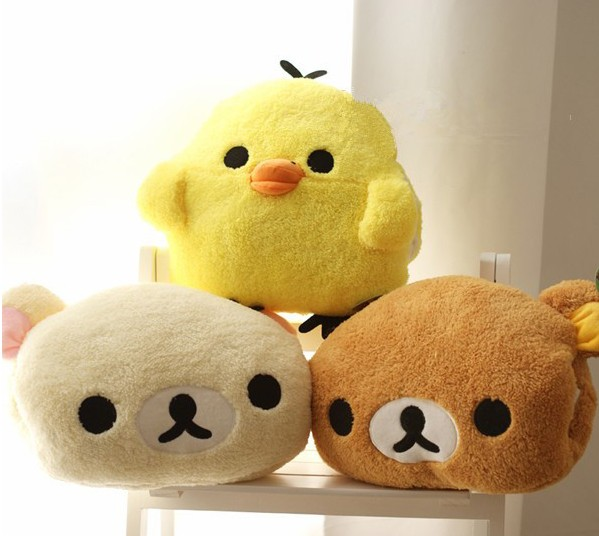 Stuffed Animal Cushion Happy Birthday Gift For Girls To Rank First Among Similar Products Flight Tracker Aeruiy 30x25cm Plush Cartoon Rilakkuma Yellow Chicken Hand Warmer Pillow