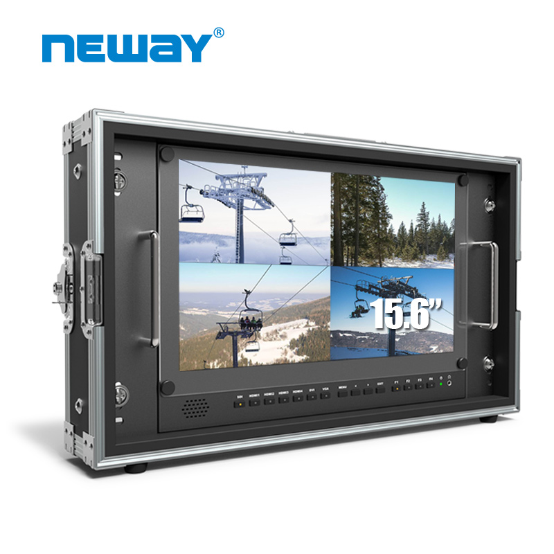 Neway CK1560S 4K 3840*2160 15.6 Inch Screen Studio Broadcast Monitor Support  Quad View 3D LUT HDR 6U Rack Mount