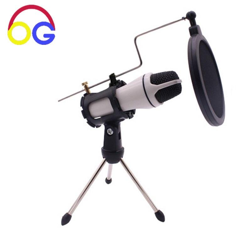 OGV Mini Handheld Eingebaute Batterie Mikrofon Mit Mini Stehen Aufnahme Song Ausrüstung für Computer Handy Netzwerk