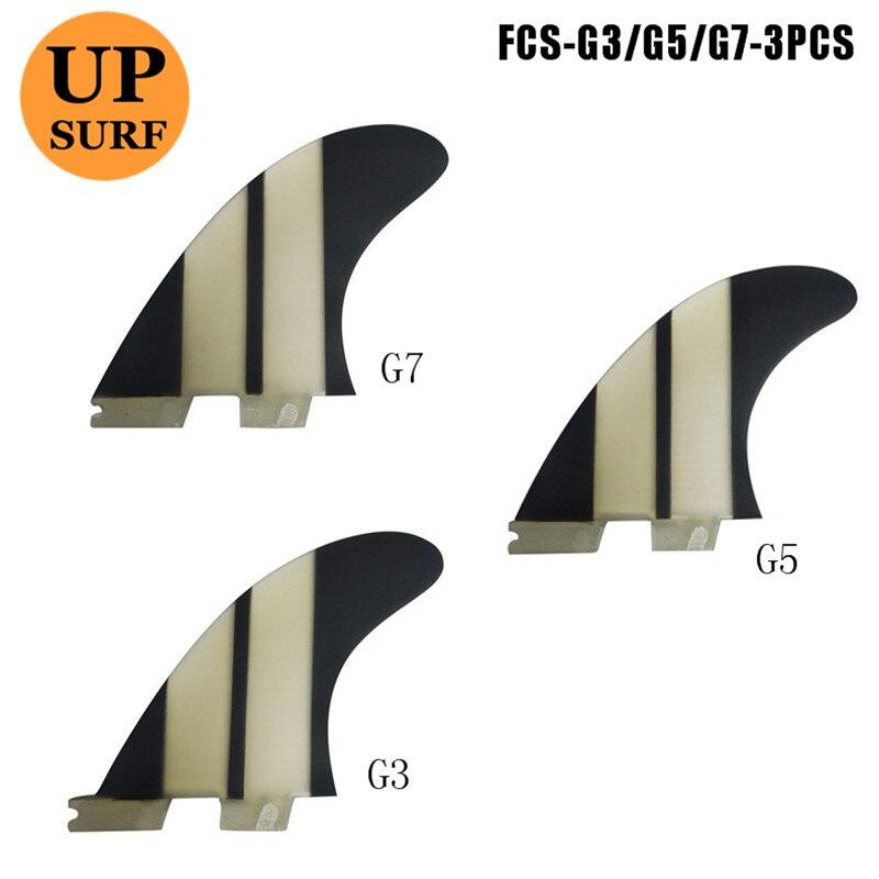 FCS2 Fin G3/G5/G7 aileron de planche de Surf Quilhas fcs ii Noir Surfer Nageoire Nageoire Nouveau conçu pour Vente