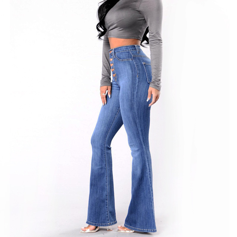 f099df28781 MIND FEET Women Flare Jeans New High Waist Lifting Buttocks Wide Leg Palazzo  Denim Pants Spring Autumn-in Jeans from Women s Clothing on Aliexpress.com  ...