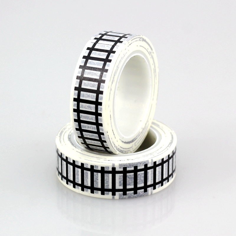 1X 10m Train Track Road Tape Traffic Washi Tape Cute Tape Scrapbooking Tools For Christmas Gift Packing Kids Car Play