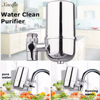 Xueqin Round Silver Stainless Steel Water Clean Purifier Kitchen Faucets Tap Heads Water Filter Adapter