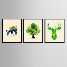 3 Pcs/Set Animal Posters and Prints Canvas Art Painting Wall Art Nursery Decorative Picture Nordic Style Kids (No Framed) modern style scenery posters canvas art painting wall art nursery decorative picture nordic style kids deco