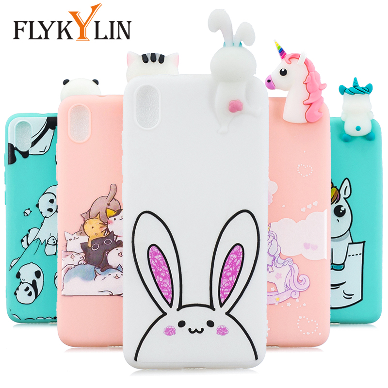 FLYKYLIN Rabbit Unicorn <font><b>Case</b></font> For Xiaomi <font><b>Redmi</b></font> 7 7A 6 Pro 6A 5 5A 4A <font><b>4X</b></font> K20 Back Cover on <font><b>Note</b></font> 7 Soft <font><b>TPU</b></font> Silicone 3D Toys Coque image