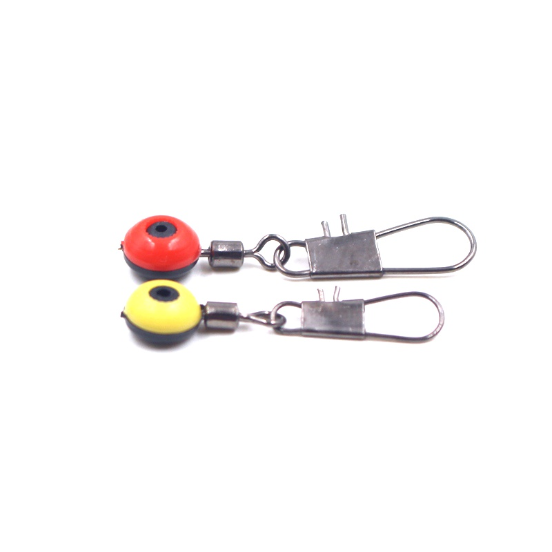 10PCS High Quality Red Yellow Fishing Space Bean Connector Fishing Gear Accessories For Sea Fishing