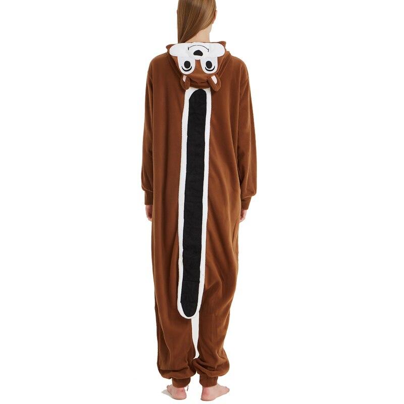 Unisex Adult Animal Squirrel Pajamas Cartoon Chipmunk Kigurumi Onesies Costumes Jumpsuits Christmas Gift (2)