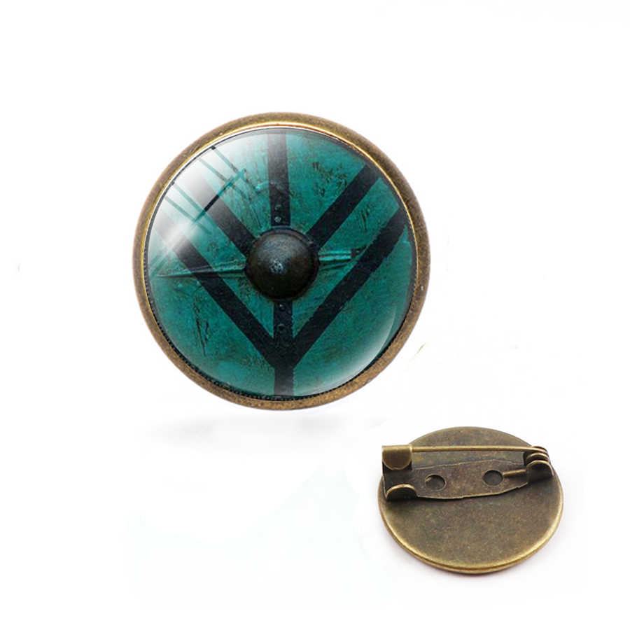 2019 Mới Vòm Kính Cổ Pin Vegvisir Viking La Bàn Lưng Chân Vintage Bướm Không Gỉ Sét Pin Bạc Trang Sức