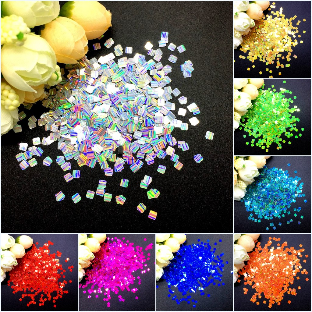 Sequins 3mm Tiny White AB Rainbow Cup Coolie Hat Shape Choose Pack Size