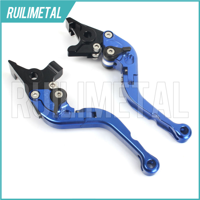 Adjustable Short Folding Clutch Brake Levers for APRILIA RSV 1000 R Mille Factory 04 05 06 07 08 2004 2005 2006 2007 2008 for aprilia rsv 1000 mille 2004 2007 cnc aluminum front