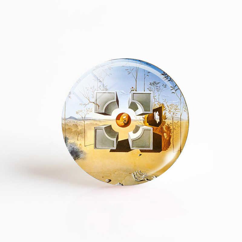 5 ピース/セットサルバドール · ダリの芸術 12/16/20/25/30 ミリメートルラウンドアクセサリーガラスカボション Diy ペンダント手作りジュエリーメイキングブランクベース