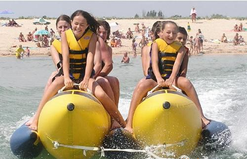 inflatable banana boat  6 people playing on the beach surf riding water game water toys gun motorcycle inflable swimming animal modeling seat inflatable boat float boat water sports children mounts kids toy