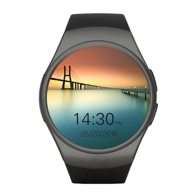 Moniteur de Fréquence cardiaque KW18 Horloge Montre Smart Watch Bluetooth 4.0 Smartwatch MTK2502C Siri et Contrôle Gestuel Pour iOS Android Téléphones